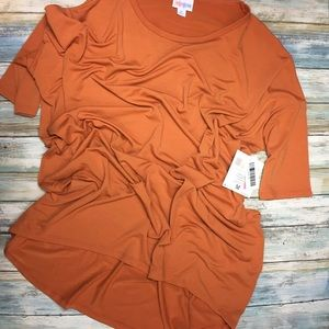 Orange LuLaRoe Irma tunic Medium